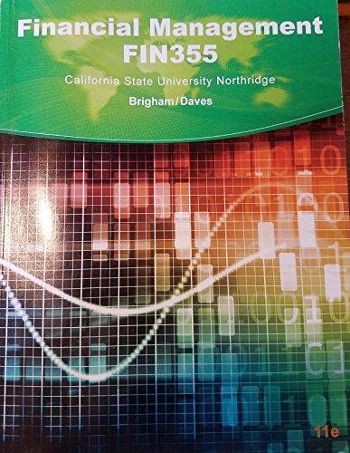 Financial Management FIN355