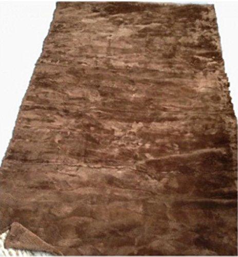 (Moda Furs New Brown 100% Sheared Beaver Fur Blanket Throw Rug Bedspread 90