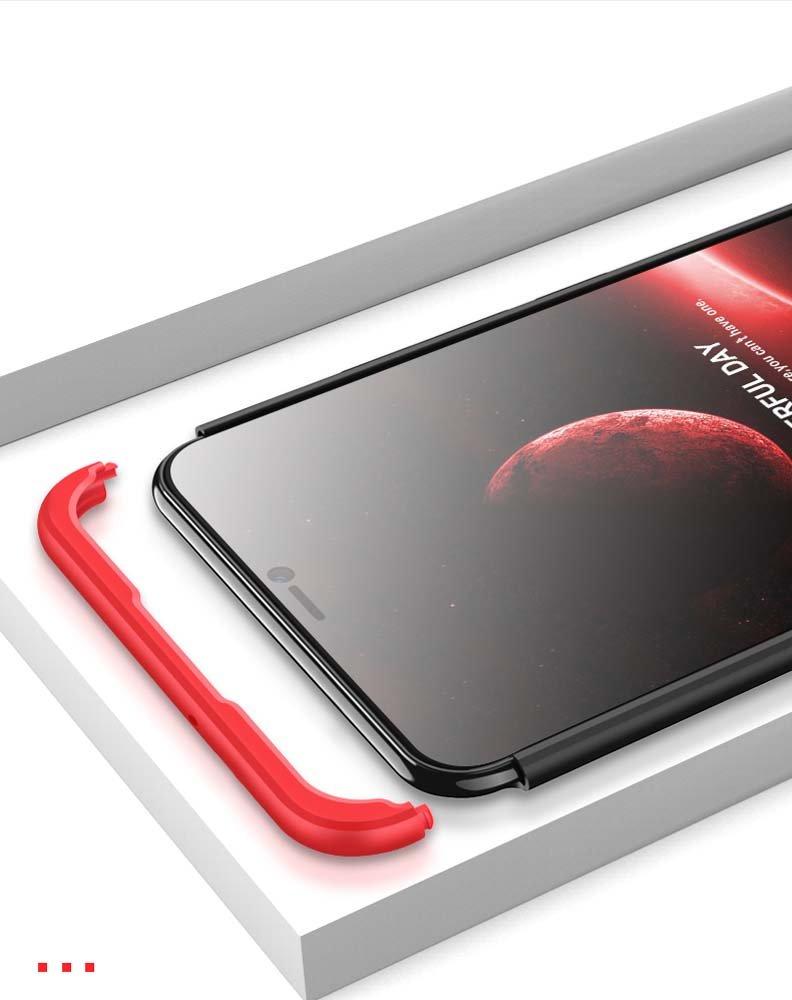 Negro Oro Protector de Pantalla de Vidrio Templado TANGNI Funda Huawei P20 Lite Carcasa Huawei P20 Lite con 3 en 1 Desmontable Ultra-Delgado Huawei P20 Lite 360 /° Complete Package Protection