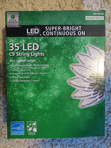 Home Accents C9 Led Lights in US - 9