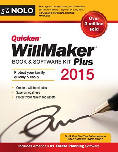 Quicken WillMaker Plus 2015 Edition: Book & Software Kit Paperback October...