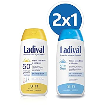 4a6505504a7 LADIVAL Protector Solar FPS 50 200ML + Aftersun 200ML: Amazon.co.uk ...