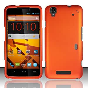 Rubberized Plastic Orange Hard Cover Snap On Case For ZTE Boost MAX N9520 (Accessorys4Less)