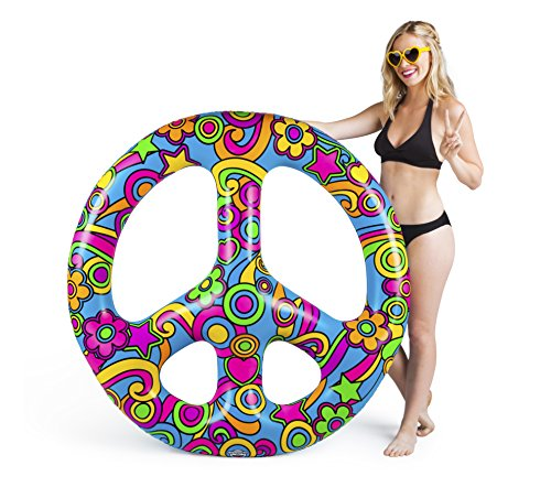 BigMouth Inc Giant Peace Sign Multi-Person Pool Float,