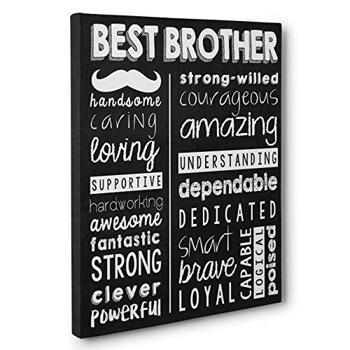 Best Brother Gift Subway Art Typography CANVAS