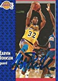 1991 Fleer LA Lakers Magic Johnson #100 Signed Auto Card IN PERSON PROOF - Basketball Slabbed Autographed Cards