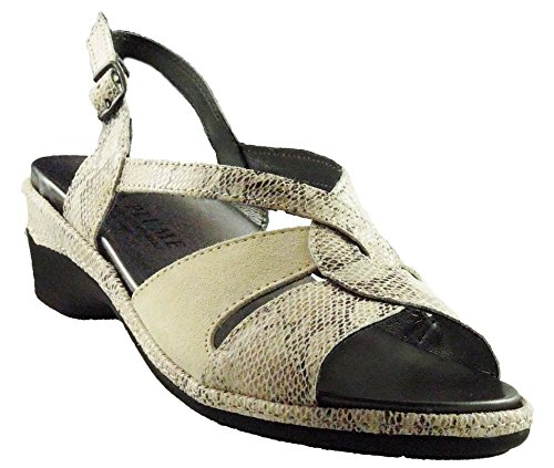 La Plume Belinda: Made in Italy, All Leather Upper Removable Insole. Bone Combo-37