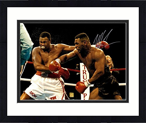 Framed Mike Tyson Autographed 16