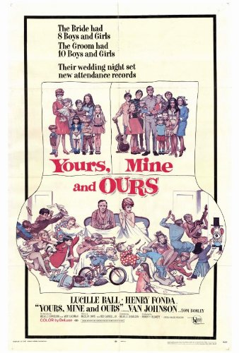 Yours, Mine and Ours Poster 27x40 Lucille Ball Henry Fonda Van Johnson