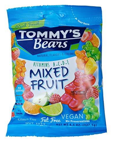 Vegan, Gluten Free, Mixed Real Fruit, Natural Flavors & Colors, No Preservatives, Nut Free, Fat Free, Vitamins A-C-D-E, 4.5 oz (6)