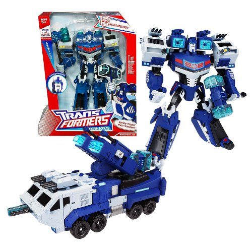 (Hasbro Year 2007 Transformers Animated Series Leader Class 10 Inch Tall Robot Figure - Autobot ULTRA MAGNUS with Lights and Sounds Plus Hammer and Cannons (Vehicle Mode: Mobile Tactical Truck) )