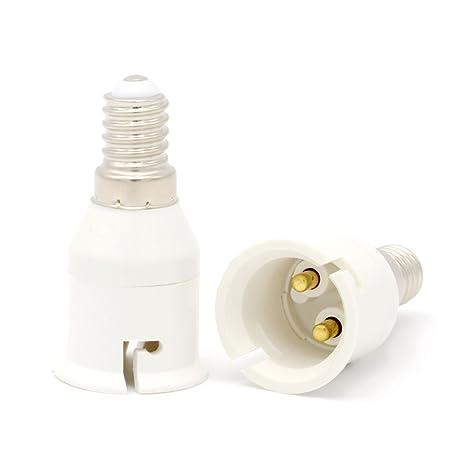to Adapter Bayonet Bulb of Socket Lamp B22 AdaptersES Small Adapter E14 Edison AdapterLED ConverterPack 2 Luminosa Screw Light to Holder NOk0wPX8n