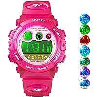 Kid Watch LED Sport 30M Waterproof Multi Function Digital Wristwatch for Boy Girl Children Gift (Pink)