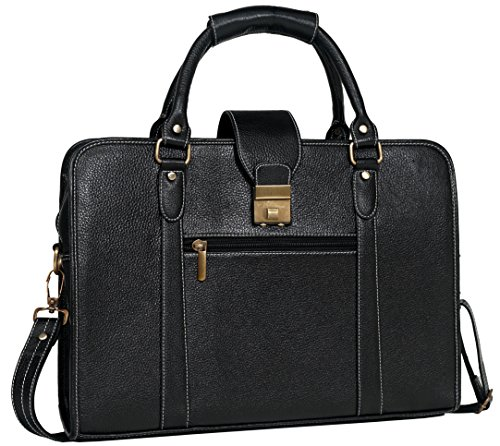 ZN 15.6 inch Genuine Leather Messenger Bag Laptop Briefcase Bag for Women or Men, (Womens Executive Briefcase)