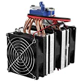 DIY Mini Dual-core Electric Semiconductor Cooler Module Thermoelectric Peltier Refrigerator Radiator Fish Tank Cooler Fan Cooling System(180W for 40L Fish Tank)