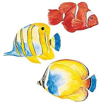 wallies 12088 tropical fish wallpaper cutout