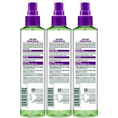 Garnier Fructis Style Curl Shape Defining Spray Gel, Curly, 8.5 oz. (Packaging May Vary)