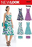 New Look sewing pattern 6020: Misses' Dresses & Purse size A (8-10-12-14-16-18)