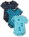 Care Baby Boys Bodysuit, Shortsleeve, 3-Pack, Blue (Dark Navy 778), 3, 6 Months