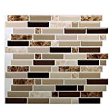 Premium Peel and Stick Tile Backsplash,Stick On Backsplash Wall Tiles for Kitchen & Bathroom-Self Adhesive-10.62' x 10' (6 Sheets)