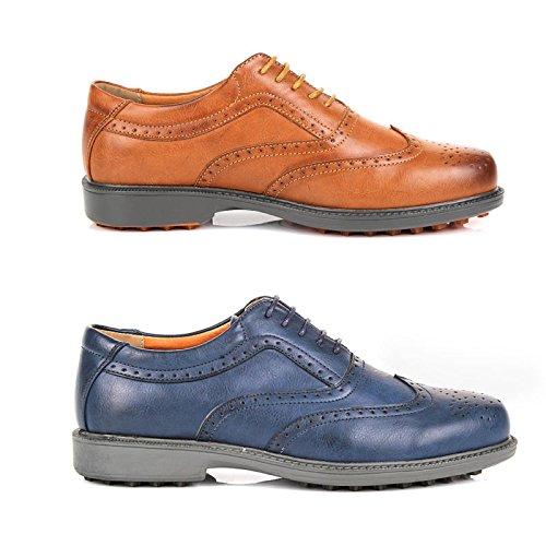 Herren italienisches Design Brogue Schnürhalbschuhe Formale Smart Lace Ups Kunstleder Gents Schuhe Größe 7