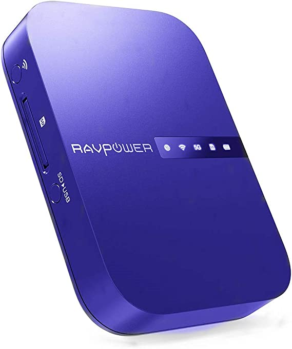 5-in-1] RAVPower? FileHub Wireless SD Card Reader with 3000mAh Backup Battery, Wireless Mobile Storage Media Sharing, WLAN Hot Spot & NAS File Server: Amazon.es: Electrónica