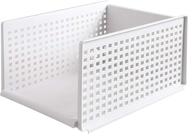 xiaoshenlu Cesta de Almacenamiento - Armario de Almacenamiento de Ropa Caja de Almacenamiento de plástico Armario Rack apilable, 44 * 33.5 * 25 cm: Amazon.es: Hogar