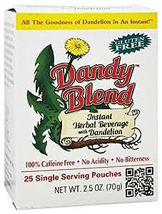 Dandy Blend - Instant Dandelion Beverage Single Servings - 25 Packet(s)