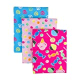 Trend Lab 3 Count Flannel Receiving Blanket Set, Candy, Baby & Kids Zone