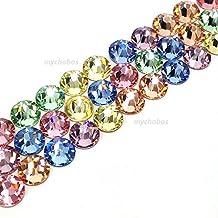 144 pcs (1 gross) Swarovski 2058 Xilion / 2088 Xirius Rose crystal flat backs No-Hotfix rhinestones nail art BABY Colors Mix ss20 (4.7mm) **FREE Shipping from Mychobos (Crystal-Wholesale)**