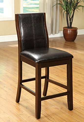 (Dining Room Kitchen Custom Wood Brown Counter Height Dining Chairs (Set of 2))