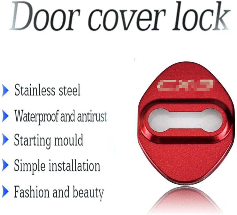 4Pcs Cubiertas para cerraduras de Puertas de autom/óviles para Mazda Speed CX-5 Accesorios para autom/óviles Acero Inoxidable