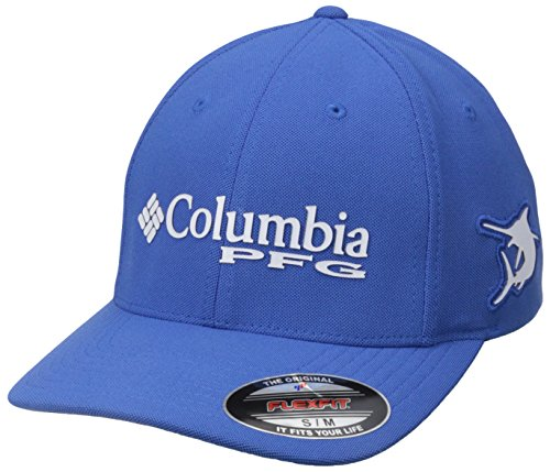 Columbia PFG Mesh Pique Ball Cap, Vivid Blue/Marlin, (Blue Marlin Fishing)