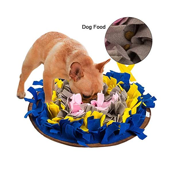 IFOYO Dog Feeding Mat, Dog Snuffle Mat Small/large Dog Training Pad Pet Nose Work Blanket Non Slip Pet Activity Mat for Foraging Skill, Stress Release, (S, L, XL) 2