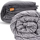 rocabi 20 lbs Luxury Weighted Blanket Bundle | Two Removable Covers | 60