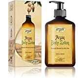 Body Lotion Dry Skin Moisturizer - Exclusive Herbal Oils Complex - Daily Moroccan Argan Oil Advanced Non Greasy Light Moisturizing Cream 13.5 oz