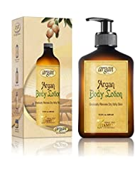 Vitamins Moisturizing Body Lotion, Dry Skin Repair with Moroccan Argan Oil for Ultra Hydration, Light Non Greasy Moisturizer Cream
