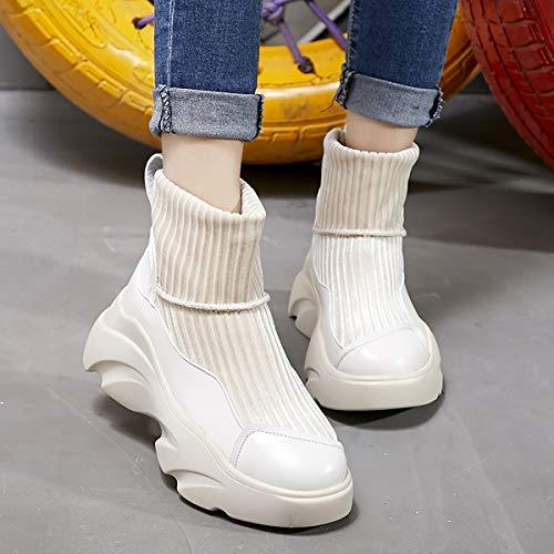 Trend Casual white Confortevole Caldo Velluto Donne Mid Stivali Inverno boots 38 White j E Più Fad 0v7zqO