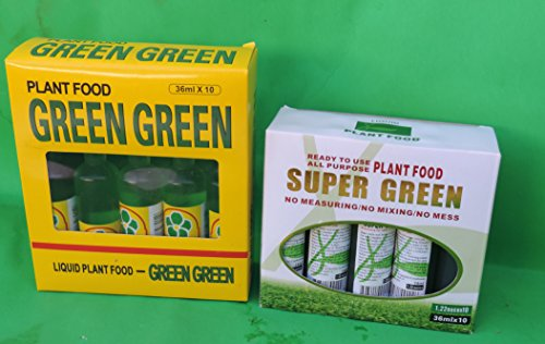 Lucky Bamboo Plant Food Super Green and Green Green by JM BAMBOO