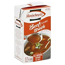 MANISCHEWITZ BROTH BEEF ALNTRL, 32 OZ