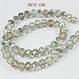 HYBEADS 6X8mm 70Pcs Wholesale Peacock Crystal Beads Gemstone Loose Beads