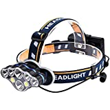 Lixada 8LED LED Headlamp Outdoor COB LED Headlight Flashlight Torch Head-Light USB Reachargeable Head-Lantern