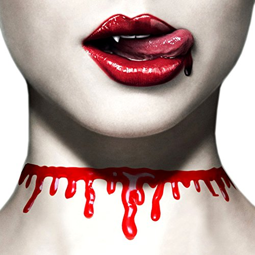 Paialco Women's Horror Blood Drip Choker Creepy Necklace for (Cheep Halloween Decorations)