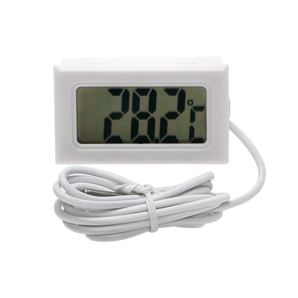 NOPNOG Car Thermometer LCD Digital Display Car Styling Ornament White