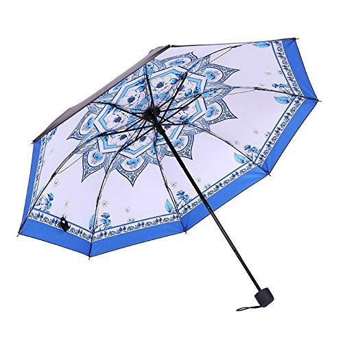 WFYJU-Protector Solar Anti - UV Tres Veces Sunny Paraguas Paraguas Sunny Negro de Cola sombrilla.Un 334c49