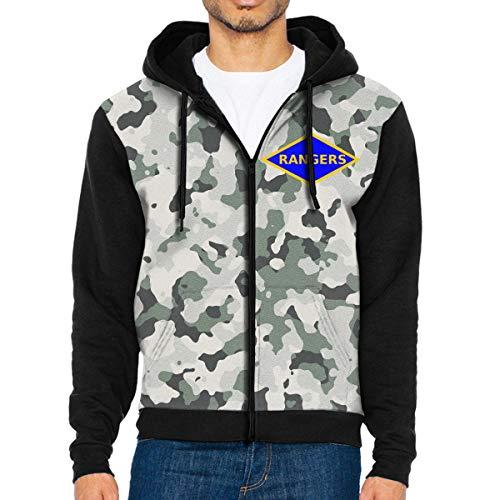 (NVTYGH HOODIE 6th Ranger Battalion Full Zip Sweatshirt Drawstring Hoodies with Pockets)