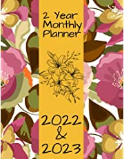 2 Year Monthly Planner 2022-2023: Flowers & Bugs Cover January 2022 to December 2023 | 24 Months Calendar Schedule Organizer