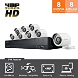 SDH-C84080BF - Samsung Wisenet All-in-One 8 Channel 4 MP Security System with 2TB Hard Drive, 8 Super HD Bullet Cameras, and 82 Night Vision