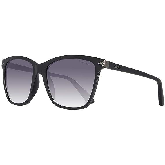 Guess Sonnenbrille Gu7499 01B 55 Gafas de Sol, Negro (Schwarz), 55.0 para Mujer