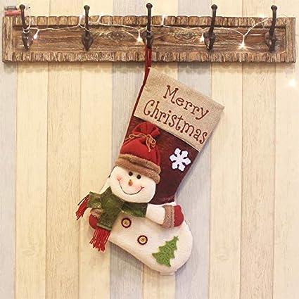 Top Shishang 1pcs de Lujo Personalizado Bordado a Mano de Navidad Media 3D Santa Claus/